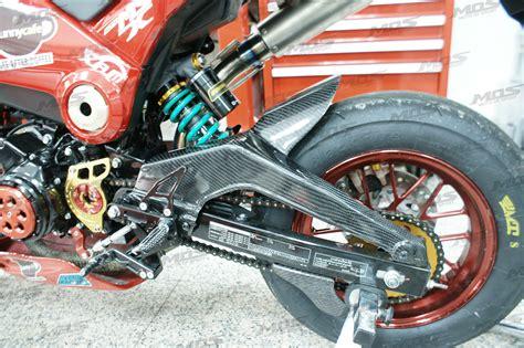 honda grom cc carbon fiber rear fender mos
