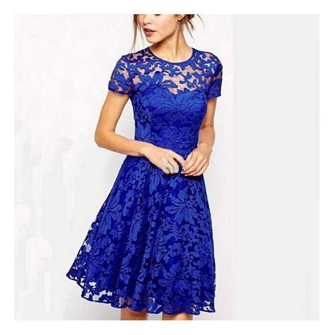 wat1413 cheap fashion dress sleeve blue lace