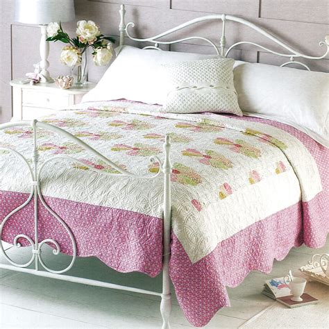 Luxury Patchwork Quilts - patchwork luxury embroidered bedding quilt throw new ebay