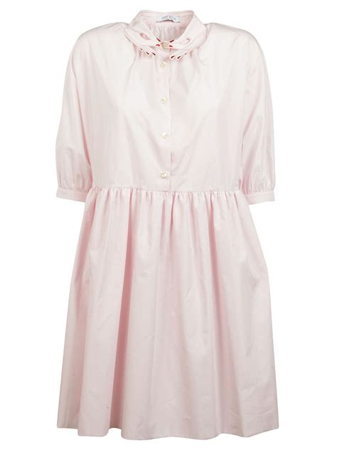 embroidered collar vivetta vivetta embroidered collar dress pink s dresses italist