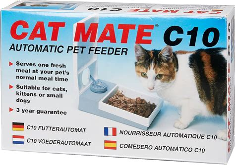 cat mate   bowl automatic pet feeder  hour chewycom