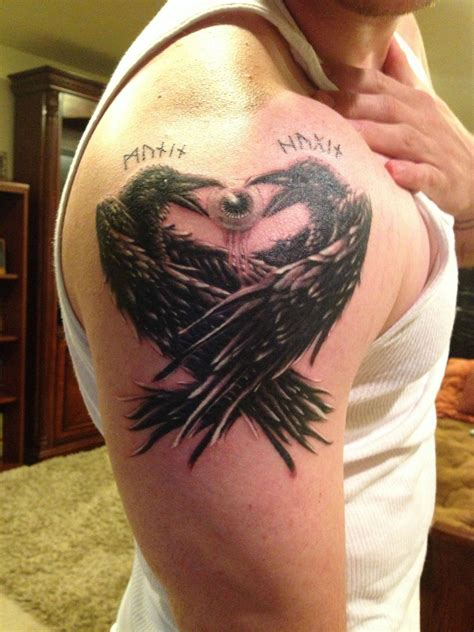 huginn and muninn tattoo huginn and muninn search tatueringar