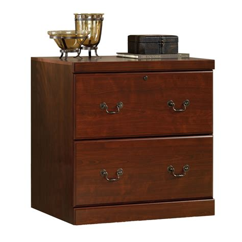 cherry file cabinet 2 drawer shop sauder heritage hill cherry 2 drawer file