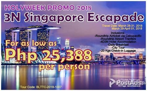 Singapore Tour 4d3n All In 4 d3 n singapore escapade holyweek promo 2018 all in tours postads ph