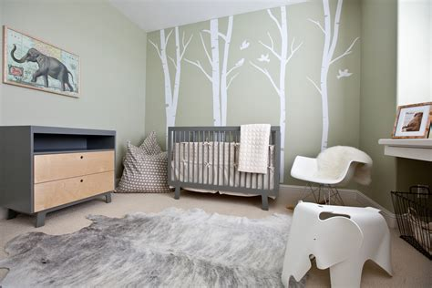 Modern Nursery Decor Decoration Baby Nursery Room Decorating Ideas Gray Wall Paint Smooth Rug Babys Room Flickr