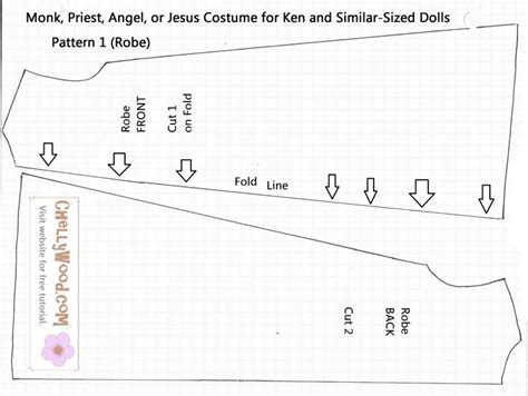 barbie doll clothes pattern template catholic priest costume doll pattern fits ken dolls this