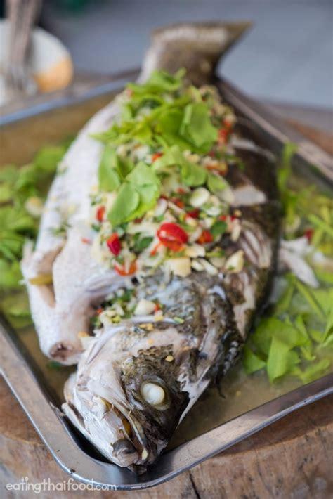 fish cuisine steamed fish with lime and garlic recipe ปลากะพงน งมะนาว