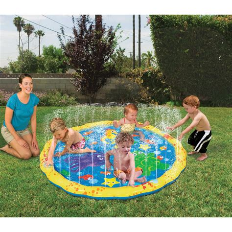 sprinkle n splash water play mat backyard toddler toys