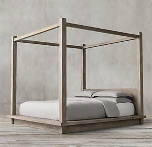 restoration hardware canopy bed reclaimed russian oak four poster bed