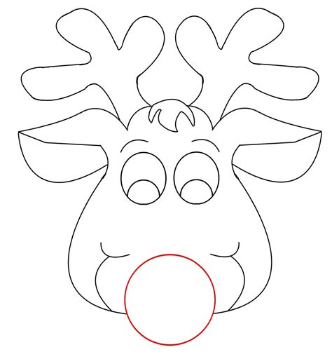 best photos of reindeer head outline template deer head