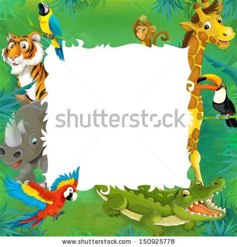 Royalty-free Cartoon safari - jungle - frame border ...