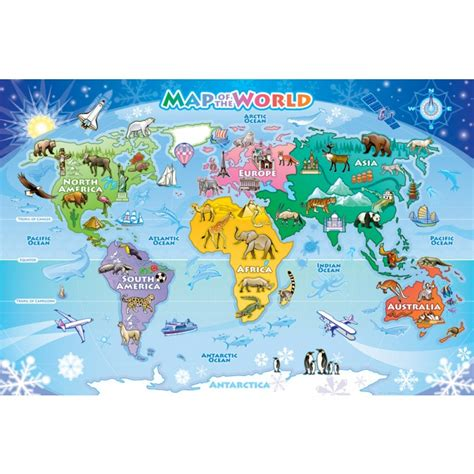 printable version of world map map of the world floor puzzle the 100 mile child local