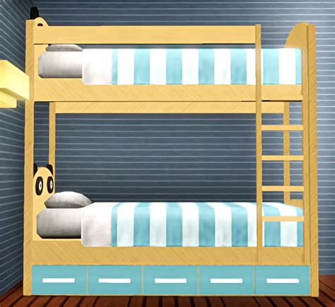 3 High Bunk Beds My Sims 3 Panda Bunk Beds By Pauleanr