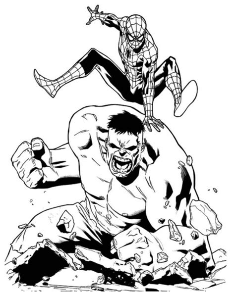 spider hulk coloring pages coloring pages of spider man vs deadpool coloring pages