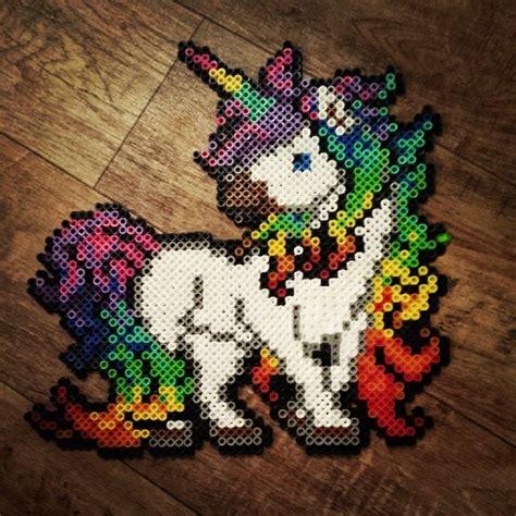 unicorn perler pattern rainbow unicorn perler beads by hnl plur perler beads