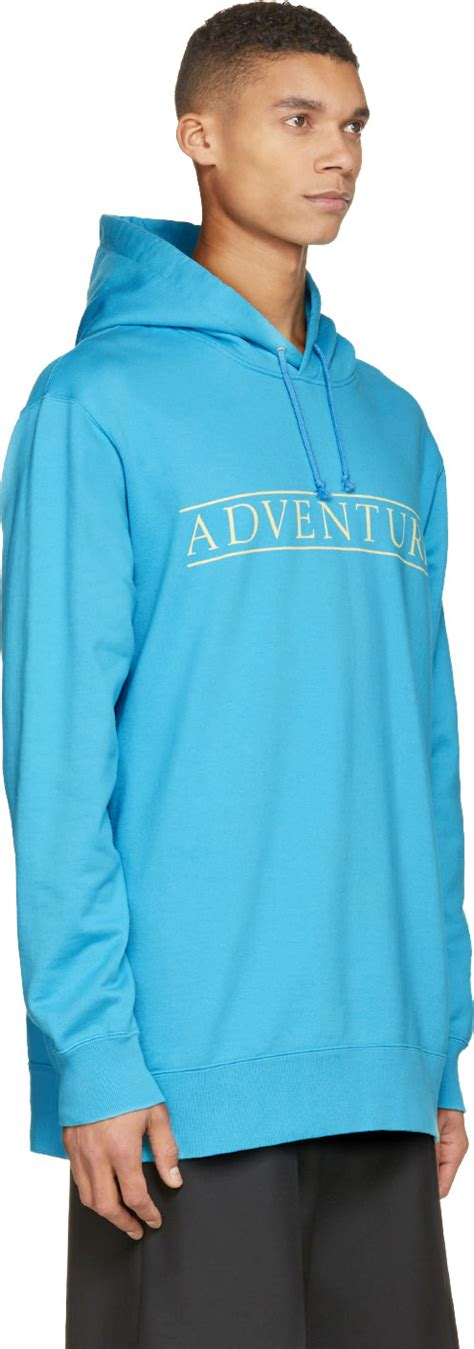 design turquoise hoodie undercover turquoise oversized adventure hoodie in blue