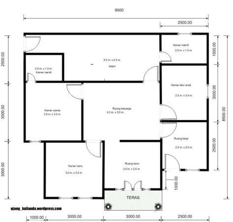 gambar denah rumah minimalis 1 lantai 3 kamar tidur sederhana modern 1000 gambar model desain