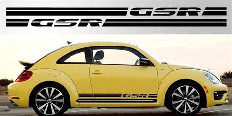 volkswagen beetle gsr side decals stripe garage