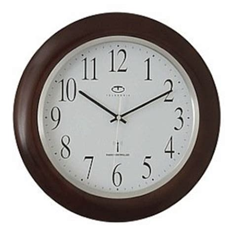 Wall Clock Online Amazon | amazon com radio controlled wood wall clock