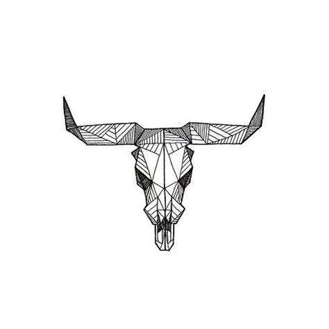 geometric tattoo taurus geometric bull skull buy prints a form of art in which