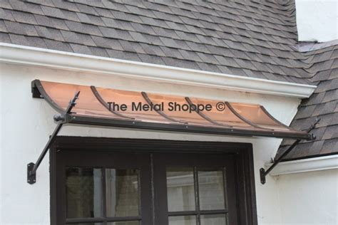 awning over window the metal shoppe decorative copper or steel exterior awnings
