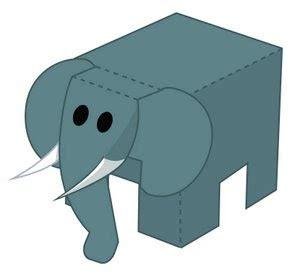 Papercraft Elephant - pooon elephant papercraft papercraft paradise