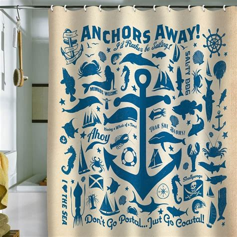anchors away shower curtain 17 best images about for the lake house condo cabin on