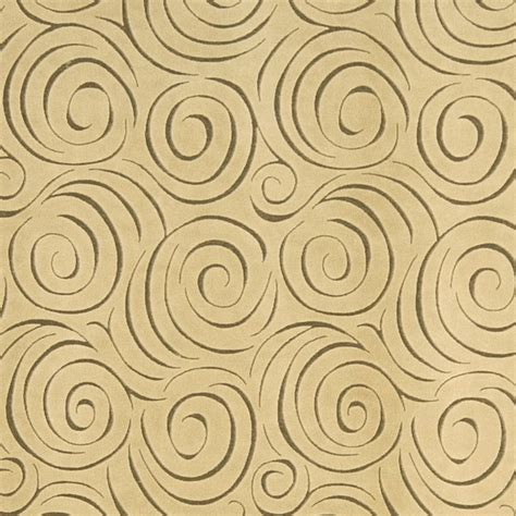 Beige Abstract Swirl Microfiber Upholstery Fabric By The