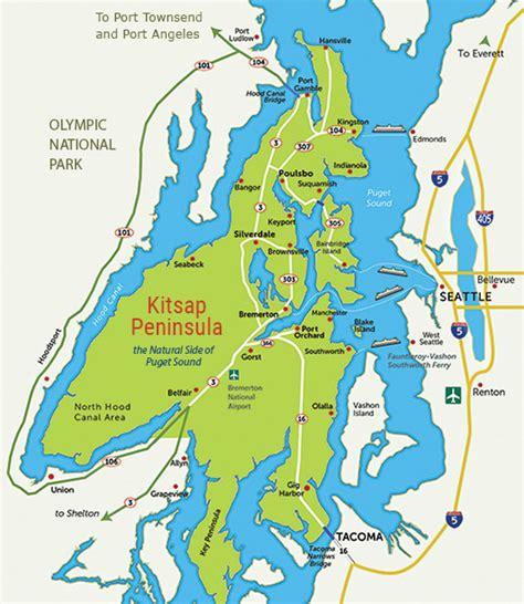 washington state ferries map transportation kitsap peninsula
