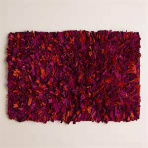 Plum Bath Rugs Plum Multi Jersey Shag Bath Mat World Market