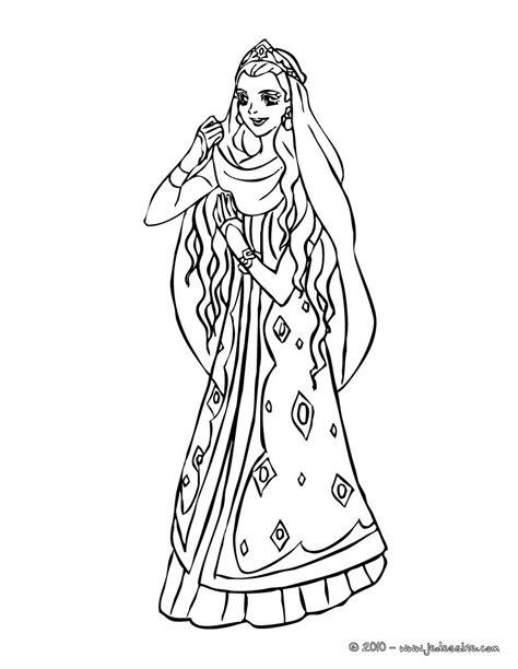 japanese princess coloring pages coloriages princesse marocaine 224 colorier fr hellokids