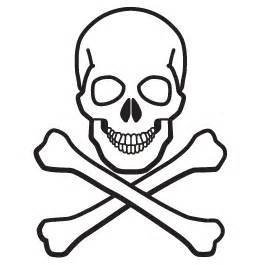 skull and bones glow in the dark wall decal dezign with a z