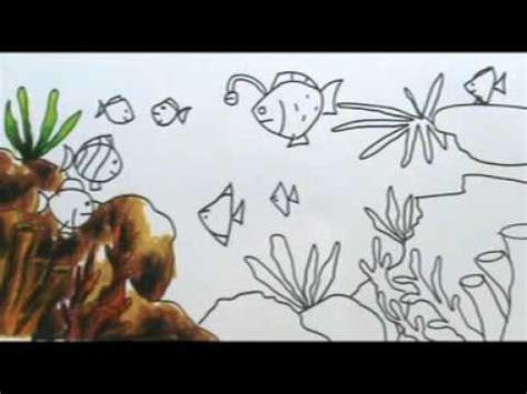 tutorial menggambar suasana full download menggambar dan mewarnai si ikan dengan