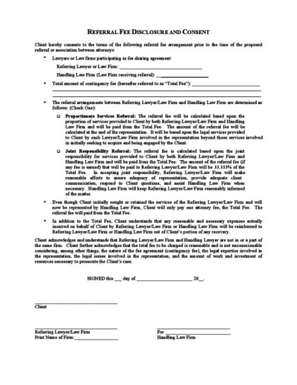 Fee Agreement Template Emsec Info Finders Fee Referral Agreement Template
