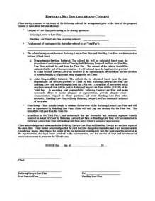 fee agreement template referral fee agreement legalforms org