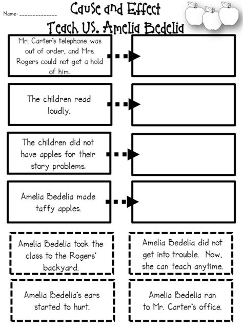 Cause And Effect Worksheets 2nd Grade by Step Into 2nd Grade With Mrs Lemons Amelia Bedelia