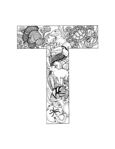 Letter T Coloring Pages For Adults by 100 Best Alphabet Coloring Images On