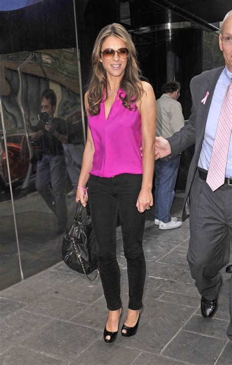 Liz Hurley In Brittish In Style by Elizabeth Hurley Fitted Blouse Looks Stylebistro