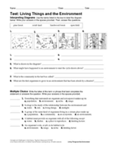 Living Things And The Environment Life Science Printable