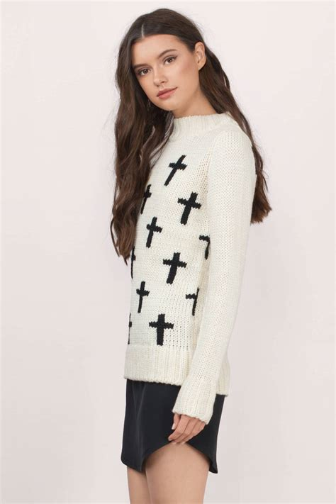 K01 Sweater Cross 2colour trendy rust black sweater sweater wool sweater 14 00