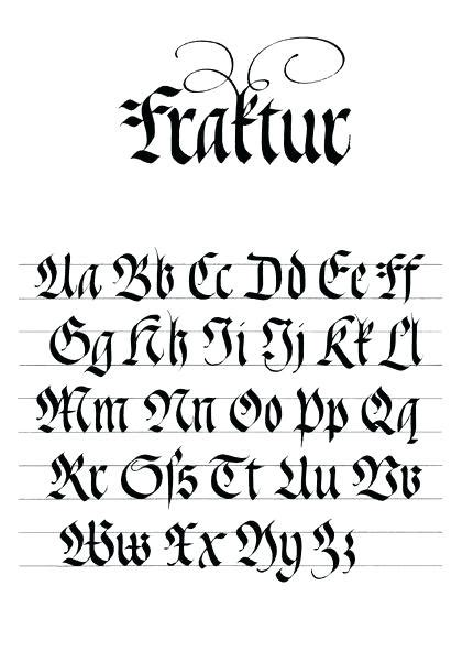 gothic lettering alphabet by gothic lettering font