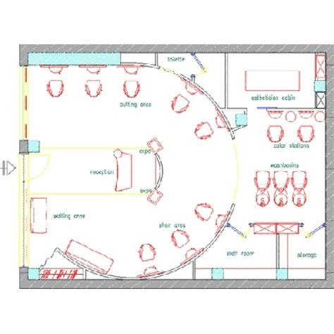 hair salon floor plan 2d plan salon floor plans gamma bross