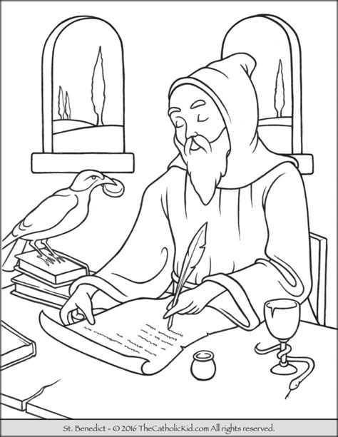 St Coloring Page hermit archives the catholic kid catholic coloring