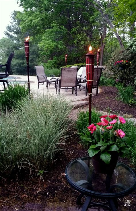 tiki torches backyard outdoor entertaining ideas in my own style