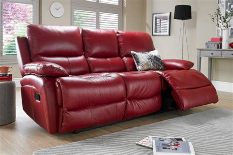 red leather reclining sofa red leather recliner sofa uk brokeasshome com