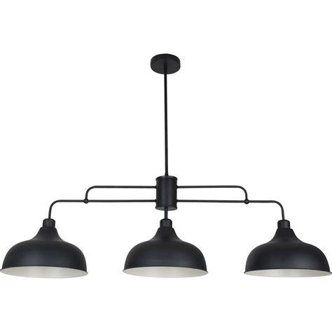 luminaire corep suspension industriel lincoln m 233 tal noir 3 x 40 w corep leroy merlin