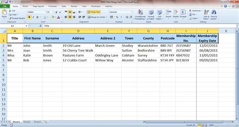 format excel for mail merge mail merging made easy va pro magazine