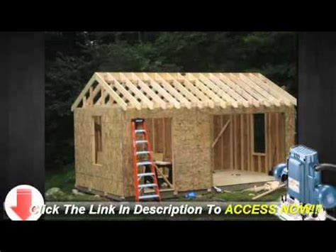 Average Cost To Build A 10x12 Shed by 10x12 Storage Shed Plans Learn How To Build A Shed On A