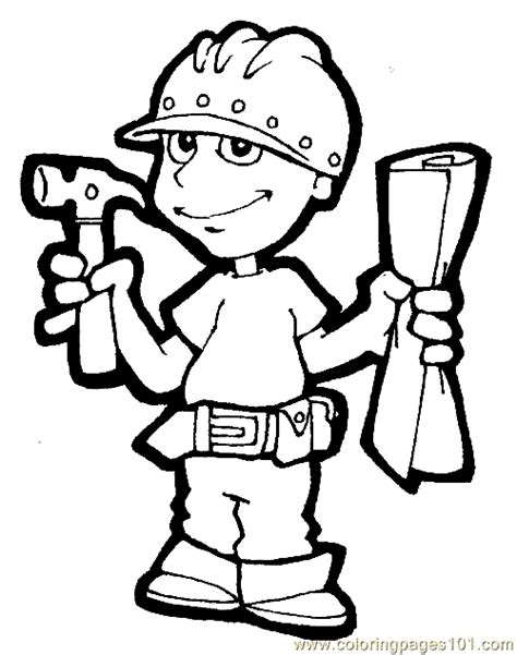 free jobs and occupations coloring pages