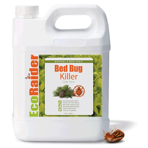 bed bug killer spray  gallon jug ecoraider natural bed bug killer